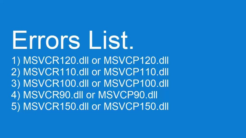 How to Fix MSVCR140.dll