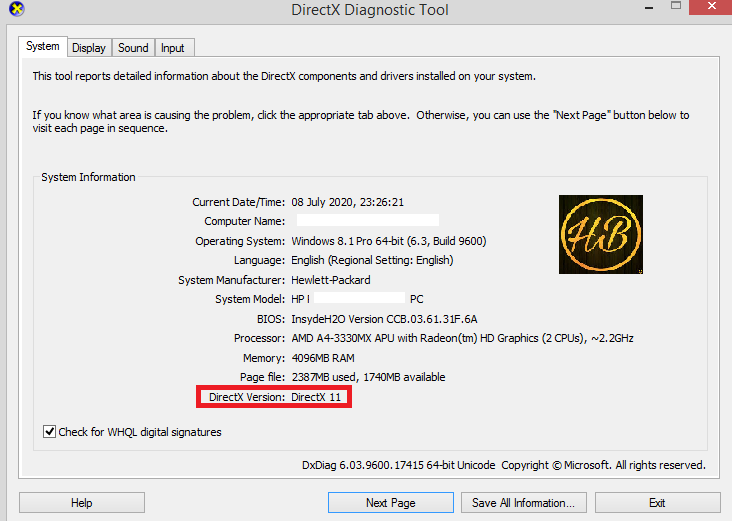 DirectX version 11 Directx 12 How to fix DX11 FEATURE LEVEL 10.0 is required to run the engine