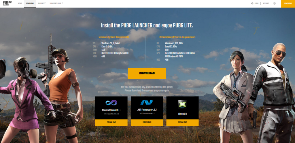 dx11 feature level 10.0 is required to run the engine pubg lite