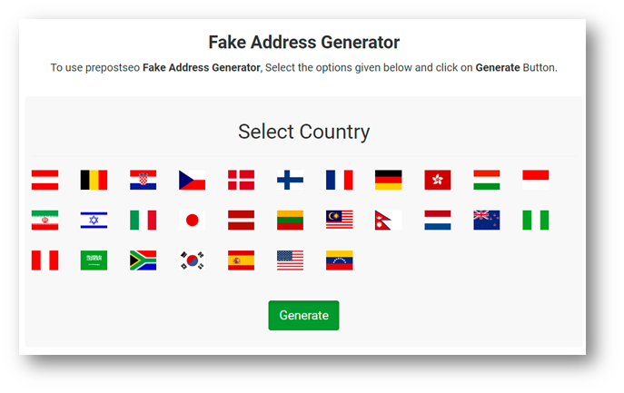 Uses of Random Address generator
